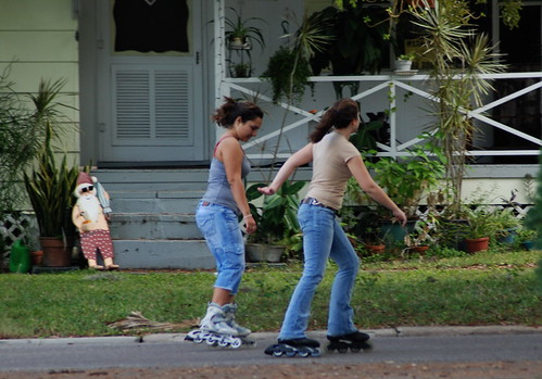 Dunedin, Florida: Winter? Roller Blading!