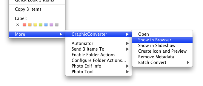 Leopard Finder Context Menu