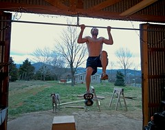 Weighted Pull Ups with 24Kg Kettlebell (hrtmnstrfr) Tags: daniel pullups kettlebell weighted crossfit