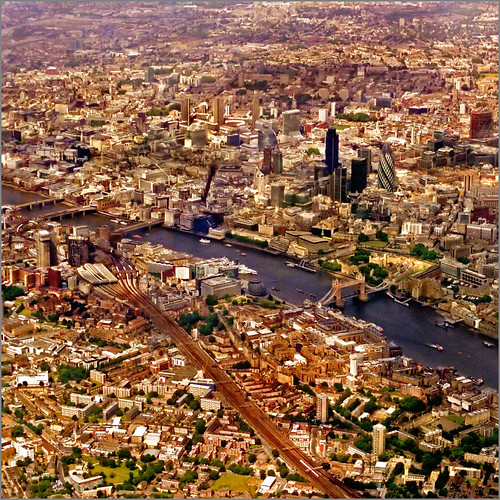 Aerial map, London - see all size..:)