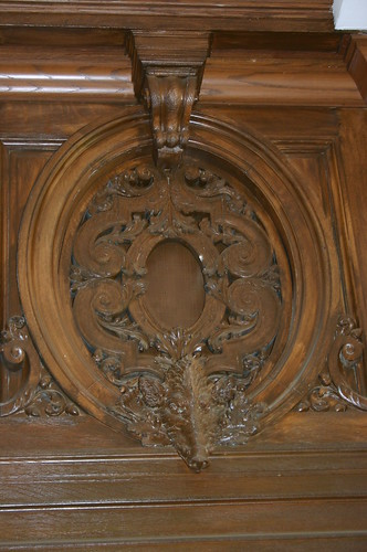 Carving Above Gold Room Door
