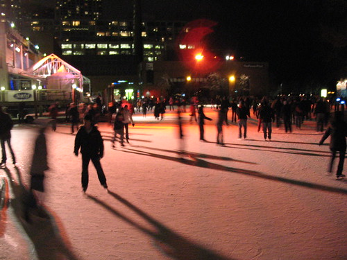 Skating at Harbourfront