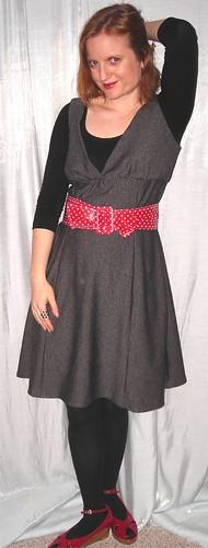 red grey vogue dresses jumper peeptoe 8386