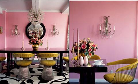 Pink apartment interior design by Betsey Johnson Room Design Ideas