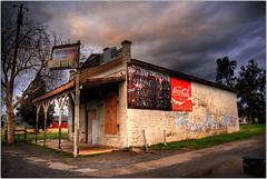 Coke or Pepsi? (Extra Medium) Tags: ca abandoned store scenery coke stormy pepsi sheridan hdr ruraldecay foundonsideofroad
