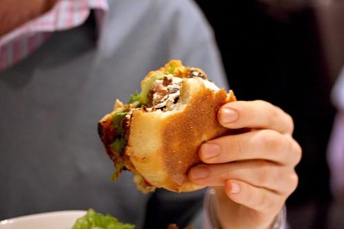 Goat's milk buttered burger...