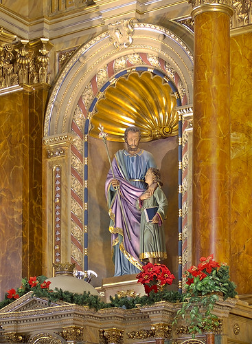 Saint Joseph Shrine, in Saint Louis, Missouri, USA - statue of Saint Joseph