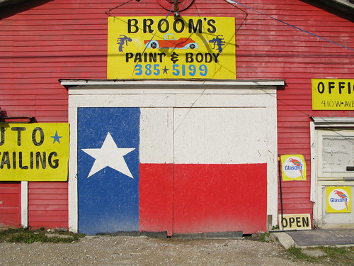 Texas flag in Silsbee, Texas, USA