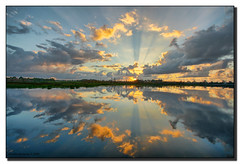 Sunrise over the Wetlands (Fraggle Red) Tags: morning reflection clouds dawn mirror bravo florida wetlands jpeg reflexions hdr boyntonbeach canonefs1022mmf3545usm firstquality photomatix 3exp abigfave worldbest greencaywetlands superbmasterpiece diamondclassphotographer flickrdiamond megashot bratanesque dphdr palmbeachco awardflickrbest minutesaftersunrise imagicland