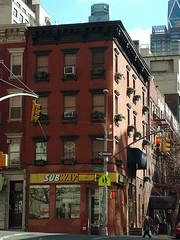 10th Avenue at West 56th Street (Jim Lambert) Tags: nyc newyorkcity windows usa ny newyork streets architecture buildings subway us unitedstates manhattan sidewalks 10thave sidewalksofnewyork windowboxes 10thavenue w56thstreet 02102008 west56thstreet w56thst 10thav february102008