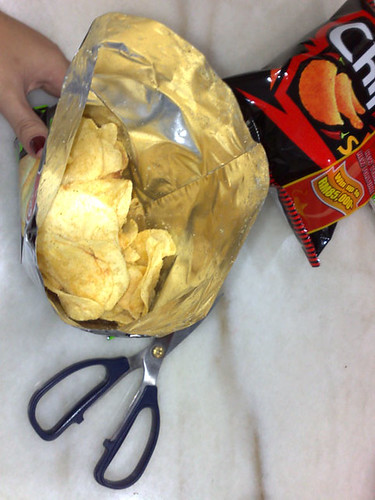 Opened bag of Chipster.