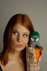 Liana K and Ed the Sock