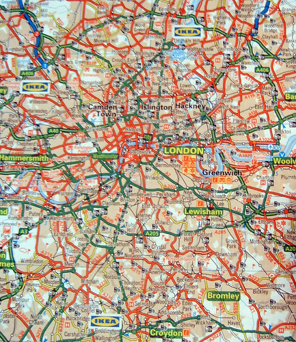 IKEA on Motorist's Atlas of Britain - March 2008 Tube Map Next?