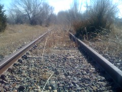 This rail line isn't used any more