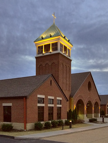 Immaculate Heart of Mary Roman Catholic Church, in New Melle, Missouri, USA - new church exterior