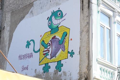 Pisica pătrată, Szögletes Macska, street art, album, graffiti, Romania, román, falfirka, könyv