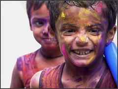 SAM SAJAN THOMAS (Sukanto Debnath) Tags: boy portrait india colors smile face festival children fun kid sam indian sony joy young holi f828 debnath hyserabad sukanto sukantodebnath