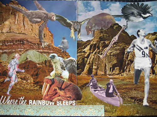 "& finished this: a new one with title built in ""Where the Rainbow Sleeps"""