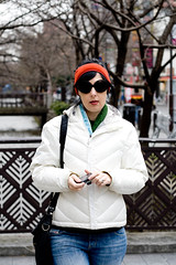 Seriously. (Lachlan Hardy) Tags: japan scarf kyoto downtown honeymoon exploring lisa headband earwarmers pufferjacket downtownkyoto