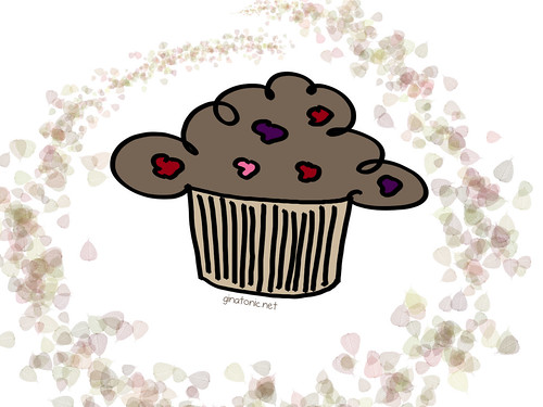 muffins chocolate frutos bosque