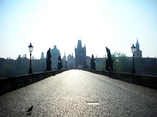 Charles Bridge in early morning
