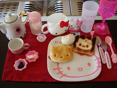 Hello Kitty's Breakfast [Explore] (Iaia***) Tags: hello pink food cute cooking japan breakfast cool nikon sweet hellokitty kitty explore kawaii nippon bento neko lovely cibo nihon colazione