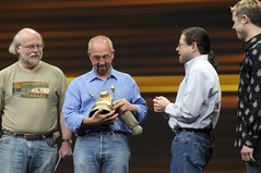 John Gage, Jonathan Schwartz and James Gosling, General Session, JavaOne 2008