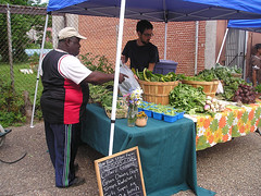farmers' market in once-vacant but now-recovering Old North St. Louis (courtesy of ONSL Restoration Group)