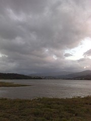 Snowdonia from Glan Conwy (andrew.stuart1) Tags: sunset mountains clouds dark nokia dusk spooky snowdonia 8gb n95