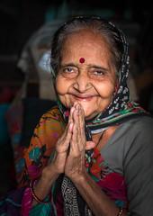 Namaste (Catherine#Page) Tags: woman india namaste gratefulness