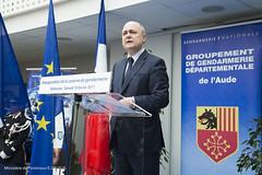 Déplacement ministre dans l'Aude (Ministere de l'Intérieur) Tags: narbonne france inauguration locaux compagnie gendarmerie ddsp zsp saint jacques et matthieu paf sentinelle douanes