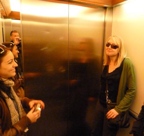 In an Austrian elevator