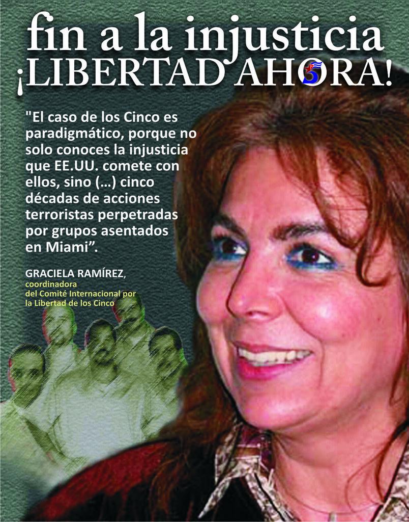 Graciela ramirez coordinadora del comit internacional por la libertad de los cinco expo de