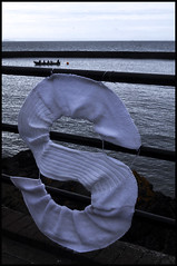BIG S (tartandart) Tags: art festival knitting rowing lettering eastlothian cockenzie 3harboursartsfestival