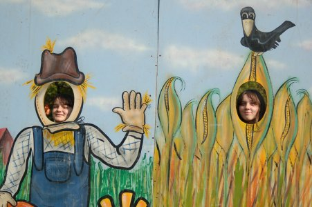 Girls at Autumn Harvest