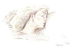 05 (tombari d.) Tags: brown black colour art illustration pencil women hand draw disegni disegno profilo pastello tombarid