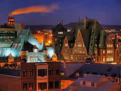 La basse Ville - Qubec (Nino H) Tags: city canada skyline architecture night