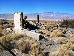 Ruins at the remote ghost town of Ballarat, CA...