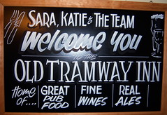 Sign at Old Tramway Inn in Stratford-upon-Avon