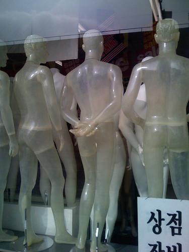 Transparent Mannequins.