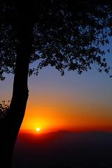 Sunset in Santiago (karolinka2007) Tags: chile santiago canon eos zoo san cerro 1740mm cristobal f4l 40d mywinners anawesomeshot aplusphoto overtheexcellence goldstaraward llovemypic
