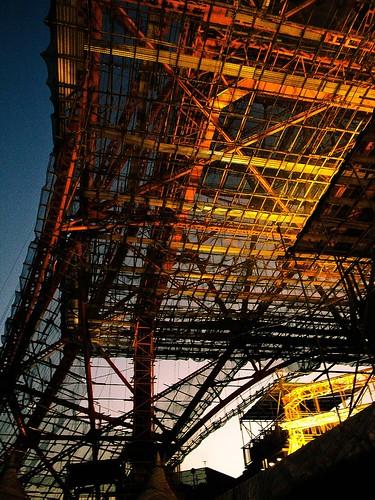 Tokyo Tower under construction