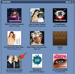 Lip Gloss and Laptops featured at iTunes U.S. podcast directory at Flickr.com