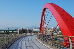 彩虹橋上看內湖
