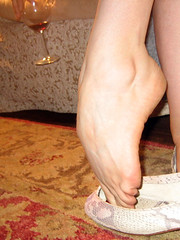 Sexy pointed foot