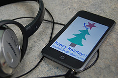 iphone happy holidays