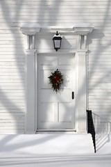 Scituate Congregational Church (jpsphoto) Tags: winter snow church wreath rhodeisland scituate congregationalchurch christmas2007