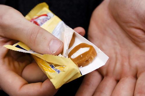 eating Goetz's caramel