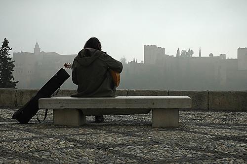 El músico y la niebla