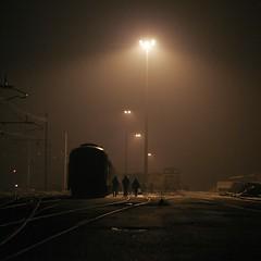 ..at night.. (ozio-bao) Tags: 20d silhouette yard train canon eos stazione treno siluette challengeyouwinner oziobao